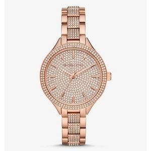 Michael Kors Rose Gold diamond watch